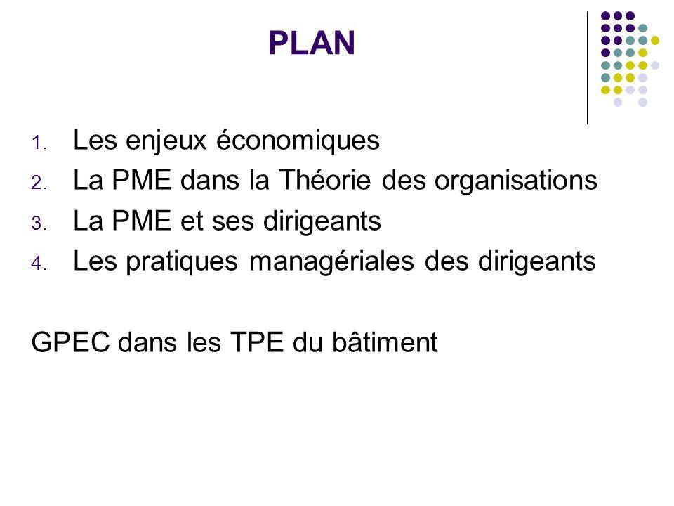 PLAN Les enjeux économiques La PME dans la Théorie des organisations
