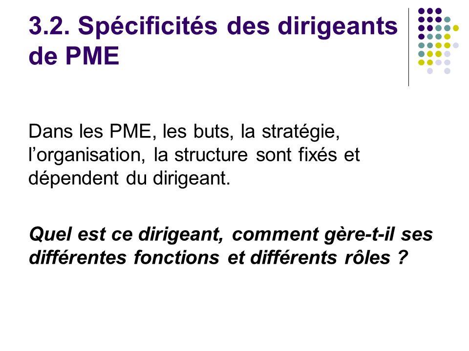 3.2. Spécificités des dirigeants de PME