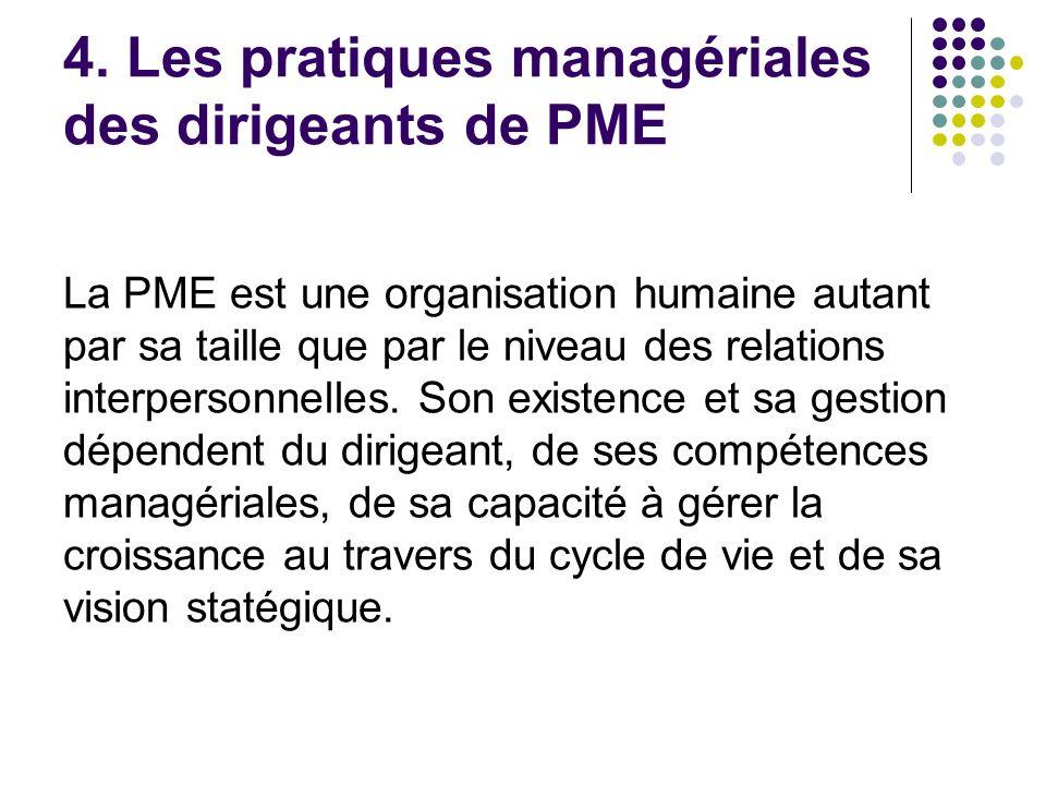 4. Les pratiques managériales des dirigeants de PME