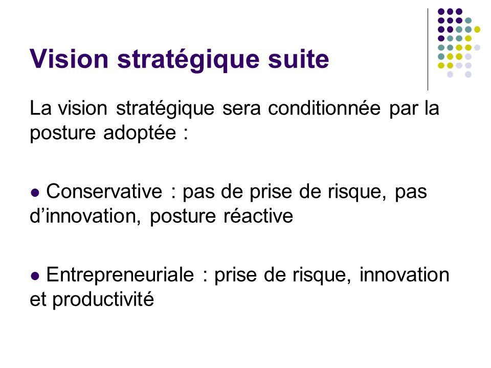 Vision stratégique suite