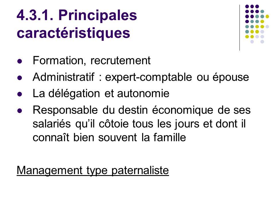 4.3.1. Principales caractéristiques