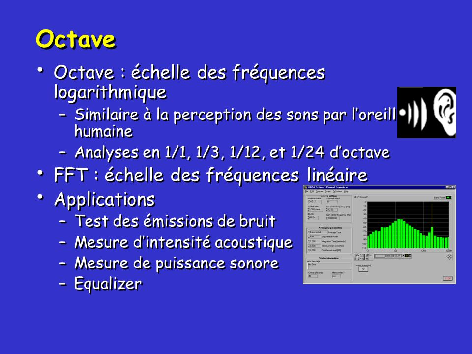 Octave Octave : échelle des fréquences logarithmique