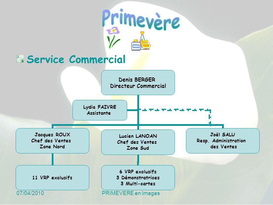 Service Commercial 07/04/2010 PRIMEVERE en Images