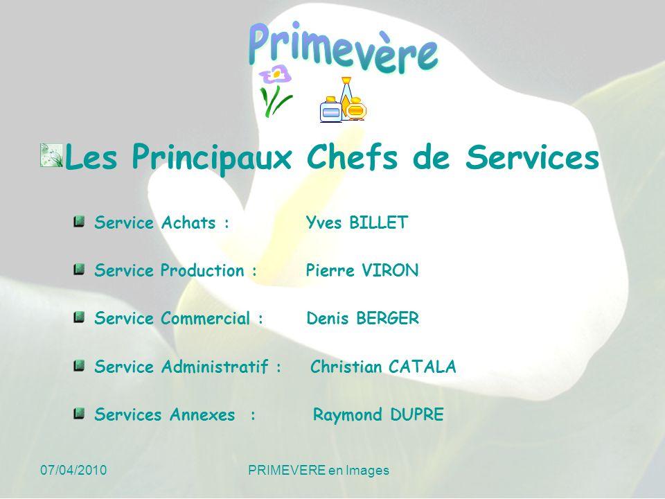 Les Principaux Chefs de Services
