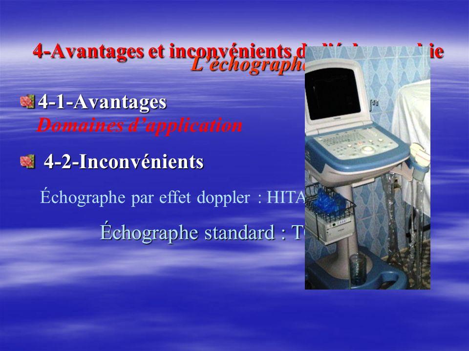 4-Avantages et inconvénients de l échographie