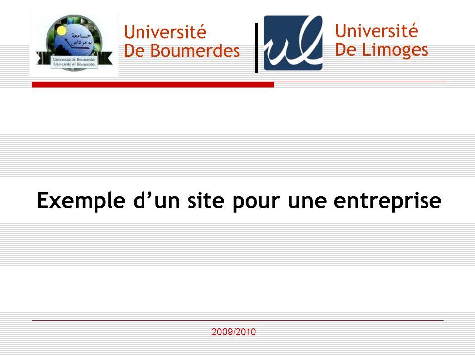 Exemple d'un site pour une entreprise