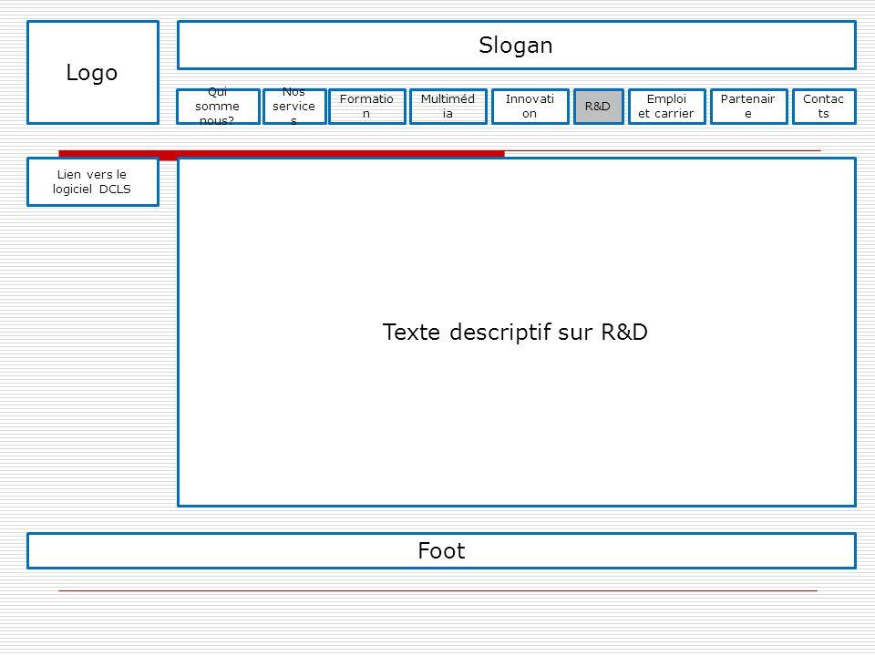 Texte descriptif sur R&D