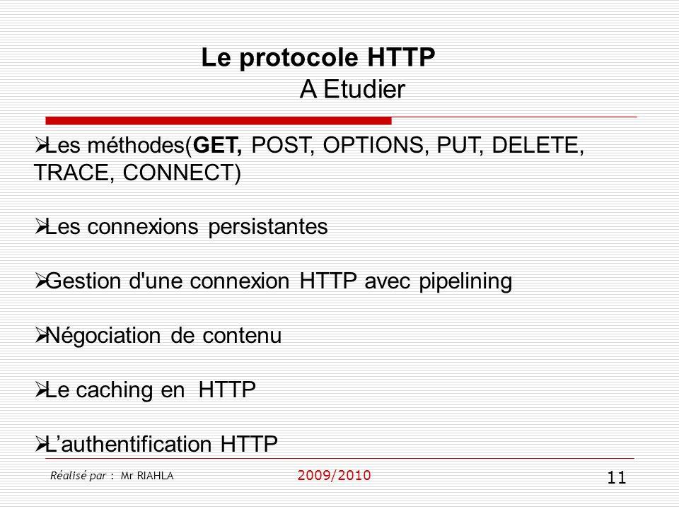 Le protocole HTTP A Etudier