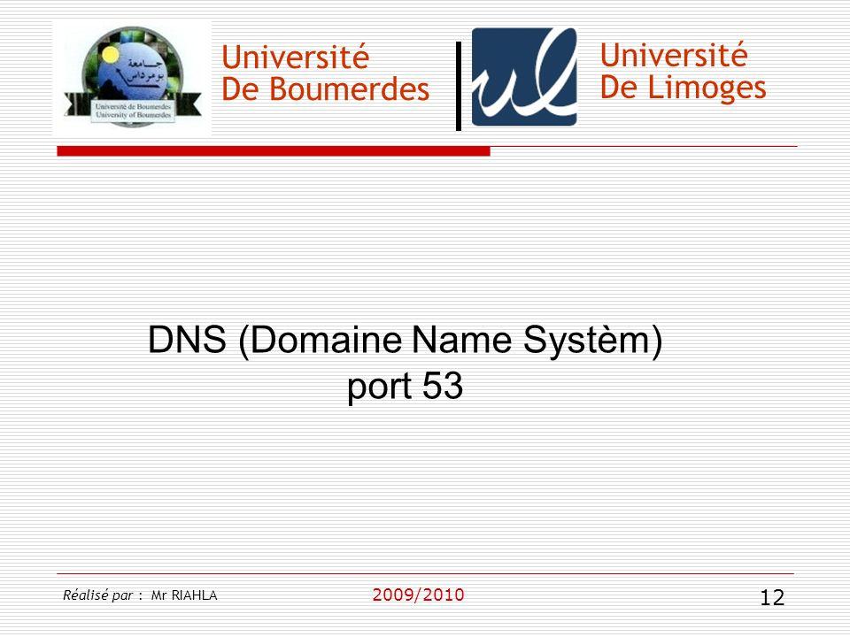 DNS (Domaine Name Systèm) port 53