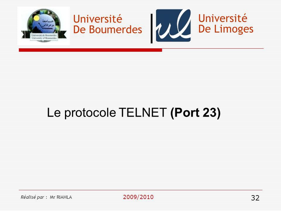 Le protocole TELNET (Port 23)