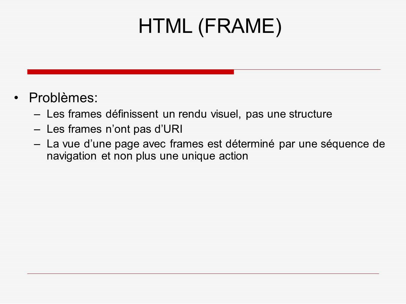 HTML (FRAME) Problèmes: