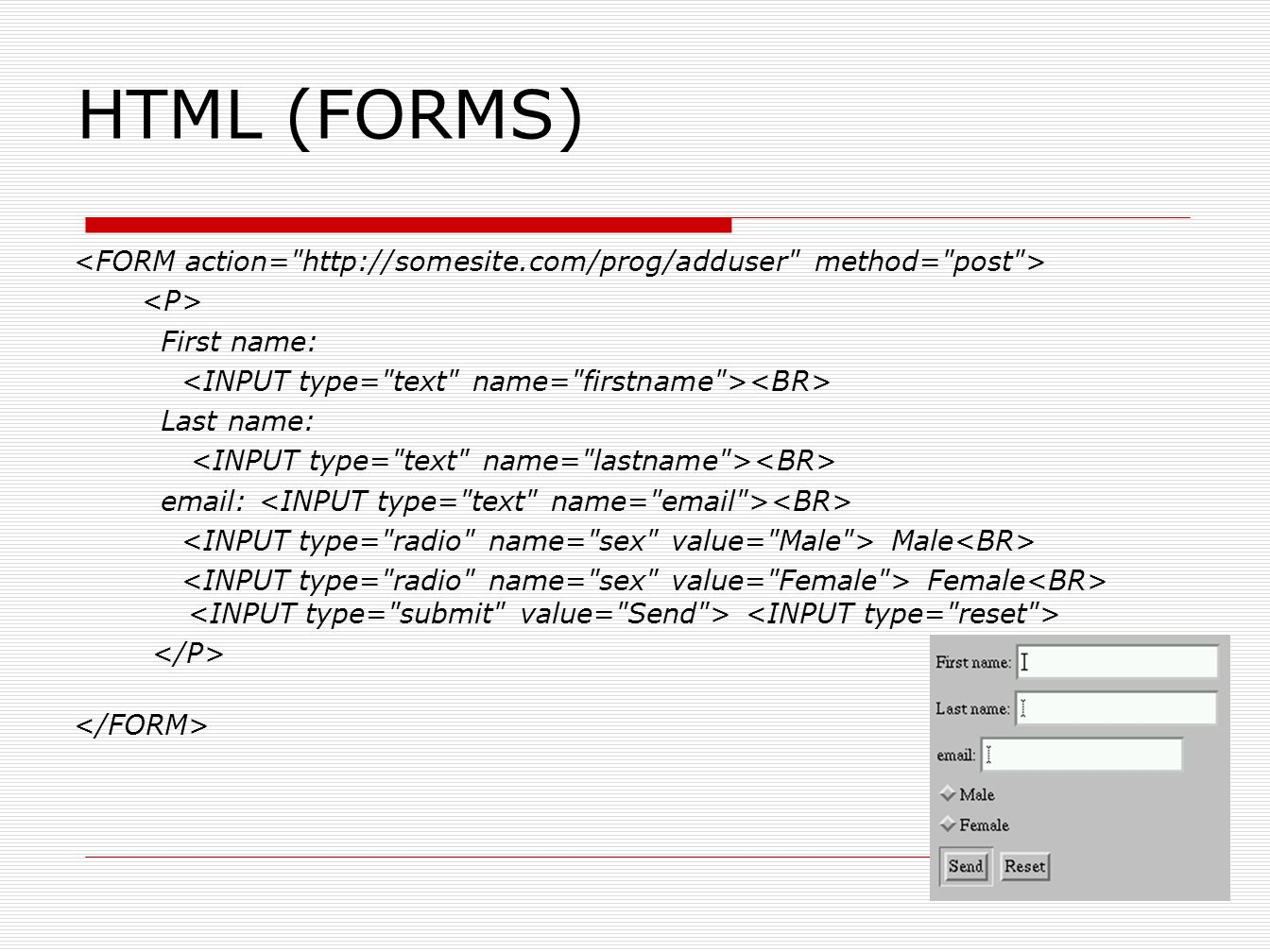HTML (FORMS)