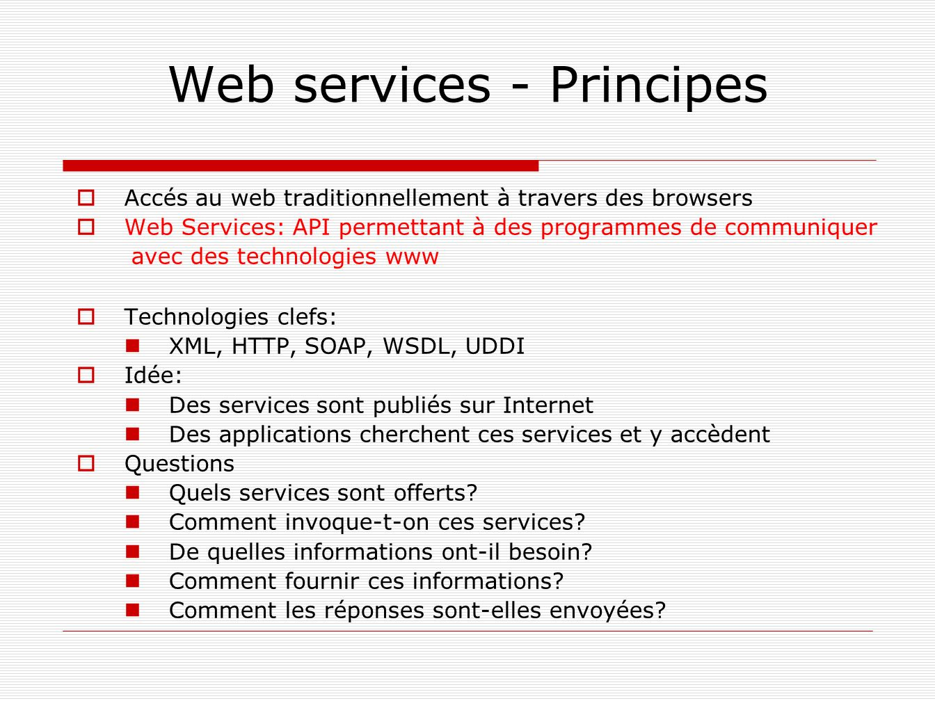 Web services - Principes
