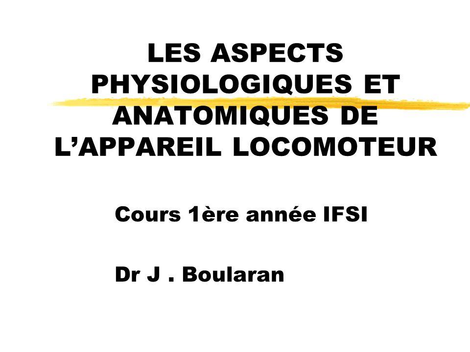 LES ASPECTS PHYSIOLOGIQUES ET ANATOMIQUES DE L'APPAREIL LOCOMOTEUR