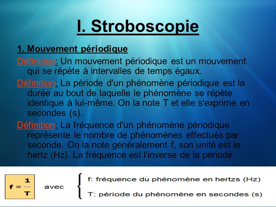 I. Stroboscopie 1. Mouvement périodique