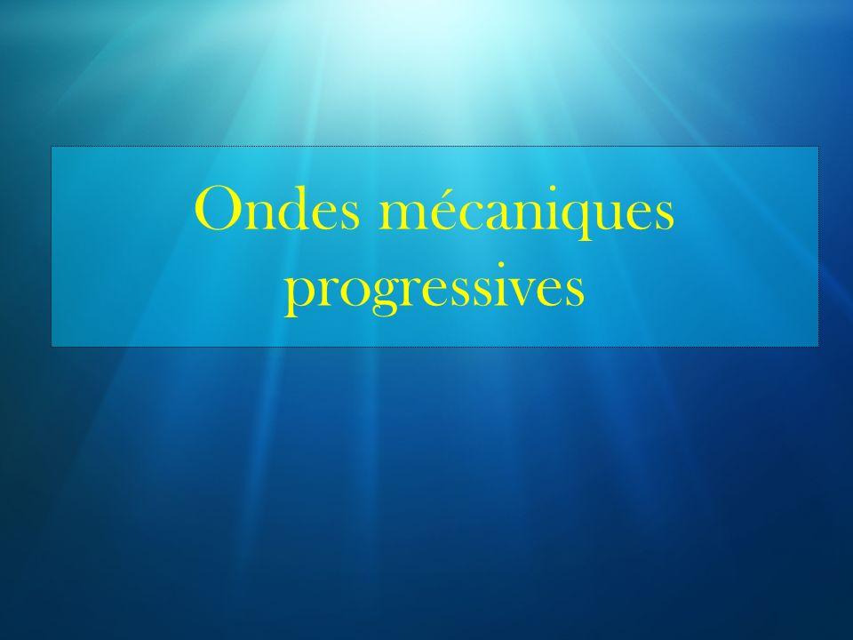 Ondes mécaniques progressives