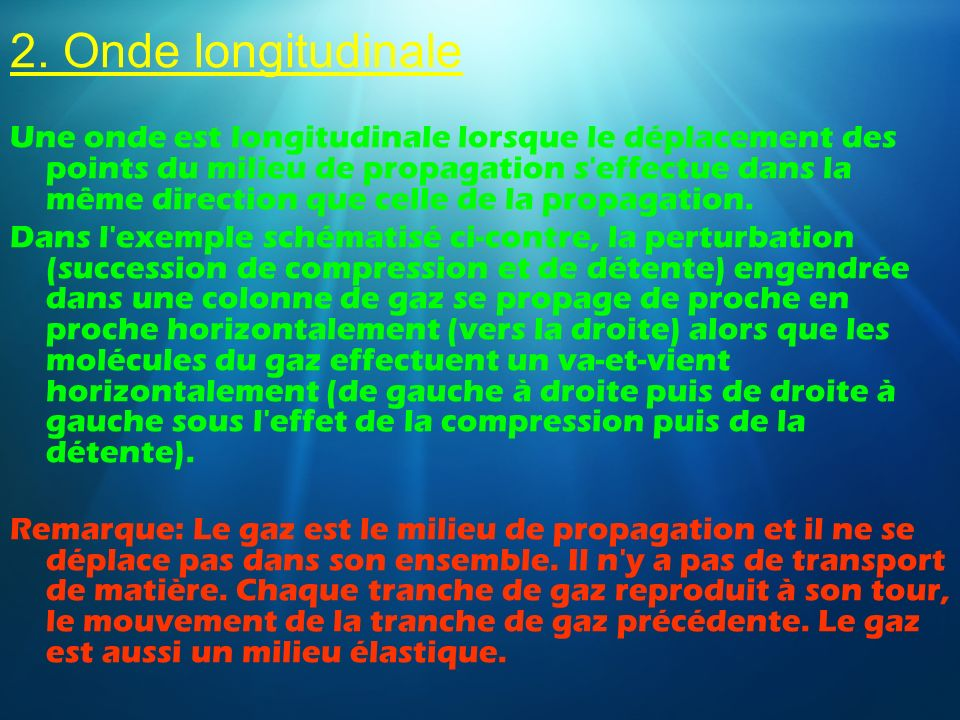 2. Onde longitudinale