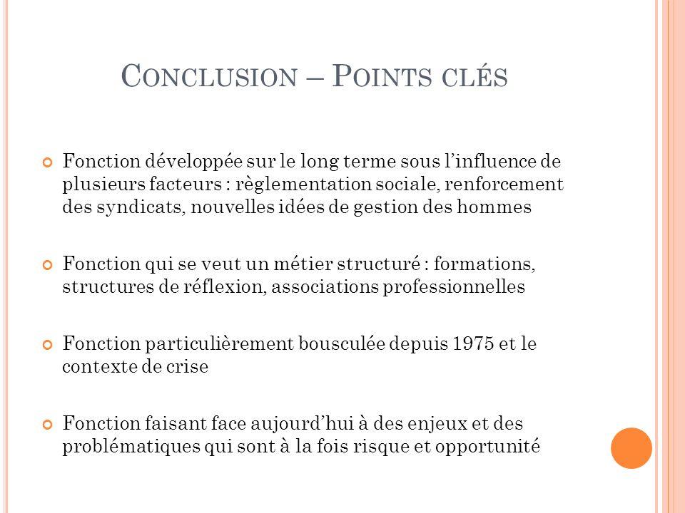 Conclusion – Points clés