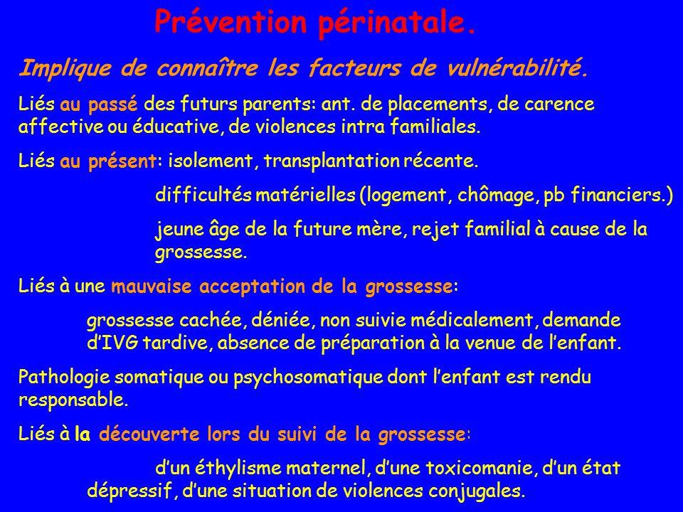 Prévention périnatale.