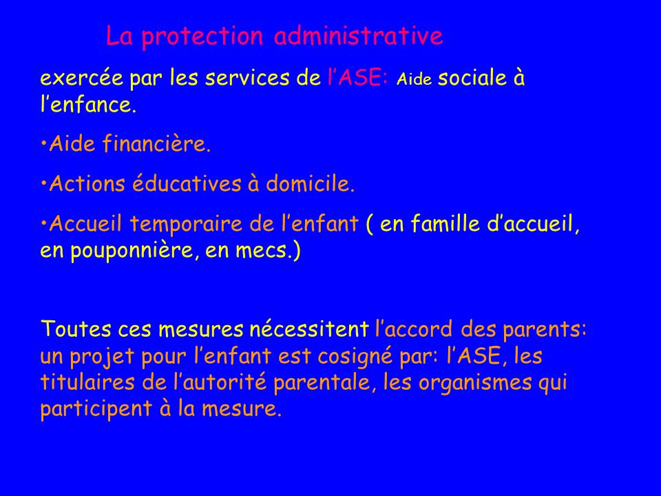 La protection administrative