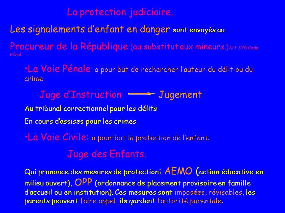 La protection judiciaire.