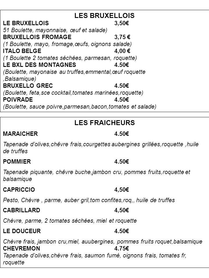 LES BRUXELLOIS LES FRAICHEURS