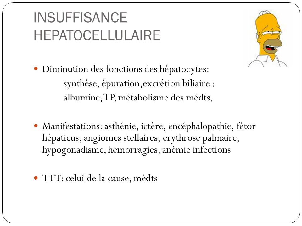 INSUFFISANCE HEPATOCELLULAIRE
