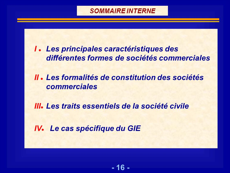 II  Les formalités de constitution des sociétés commerciales