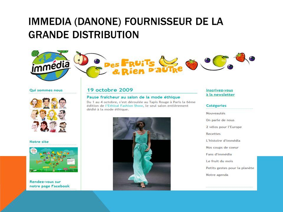 Immedia (Danone) fournisseur de la grande distribution