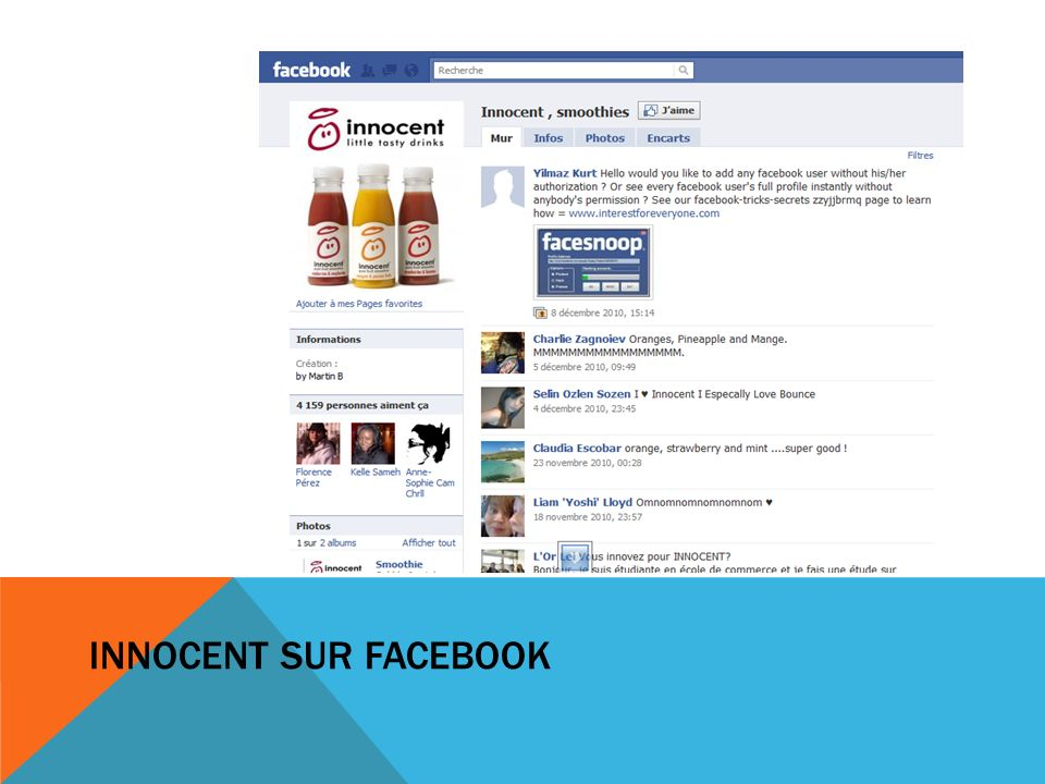 INNOCENT SUR FACEBOOK