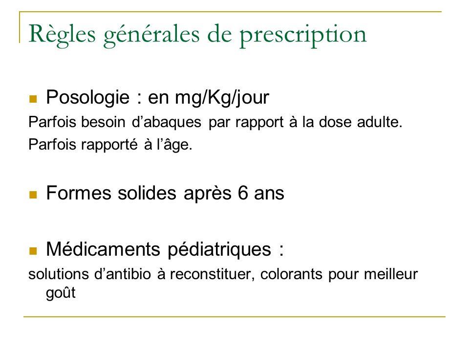 Règles générales de prescription