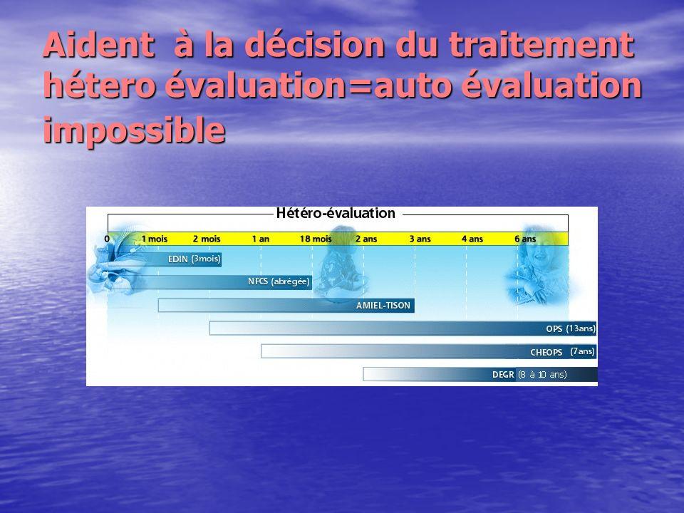 Aident à la décision du traitement hétero évaluation=auto évaluation impossible
