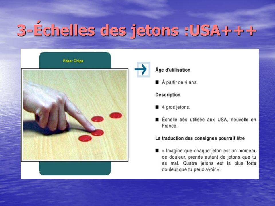 3-Échelles des jetons :USA+++