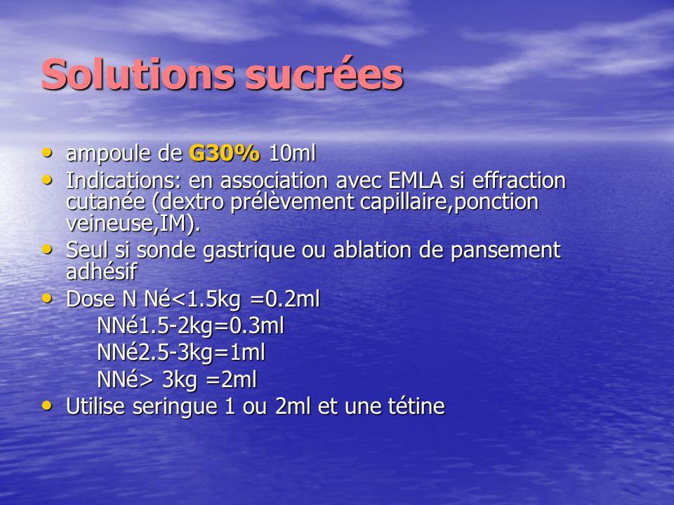Solutions sucrées ampoule de G30% 10ml