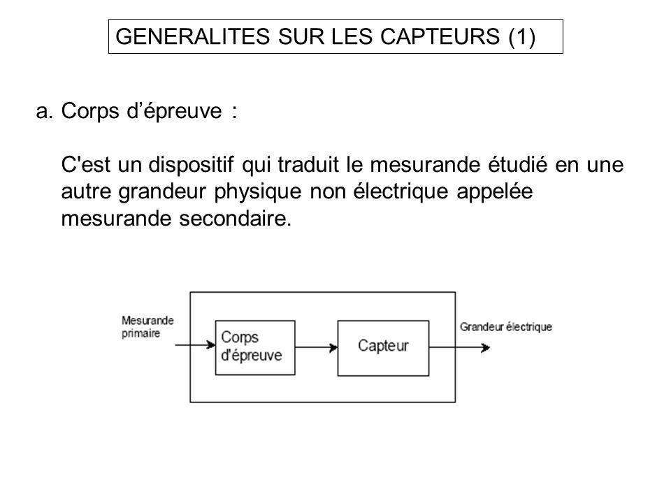 GENERALITES SUR LES CAPTEURS (1)