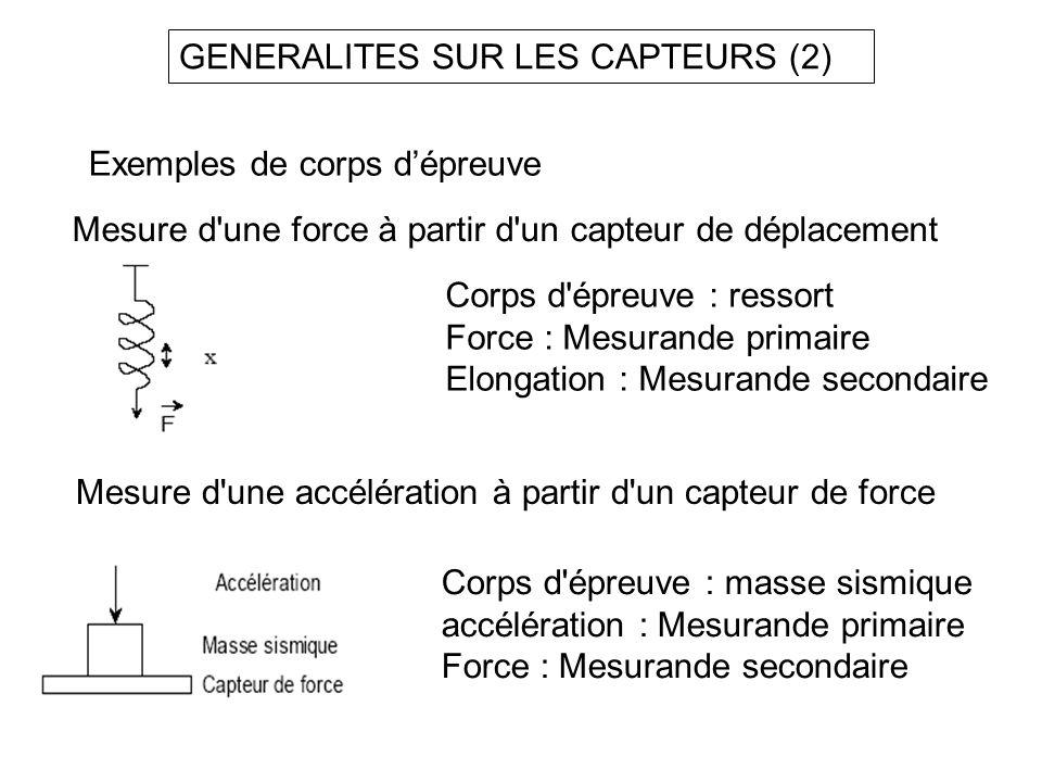 GENERALITES SUR LES CAPTEURS (2)