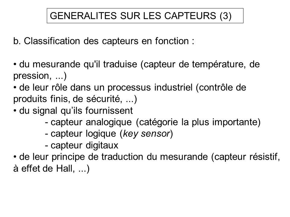 GENERALITES SUR LES CAPTEURS (3)