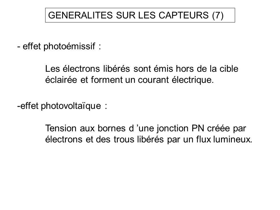 GENERALITES SUR LES CAPTEURS (7)