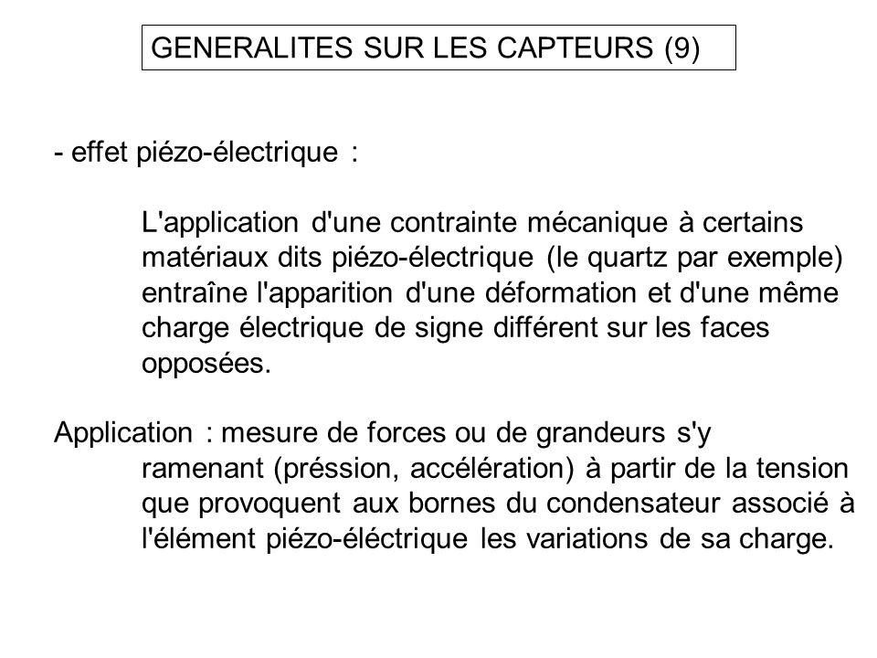 GENERALITES SUR LES CAPTEURS (9)
