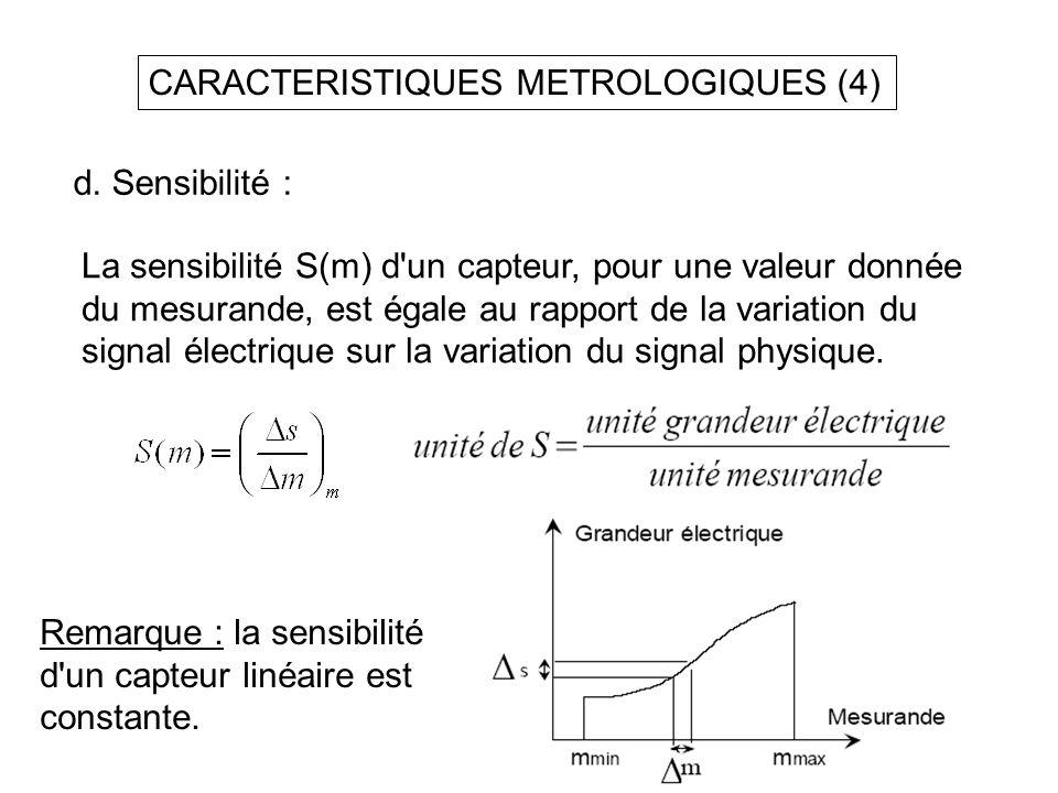 CARACTERISTIQUES METROLOGIQUES (4)