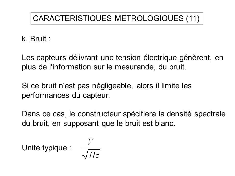 CARACTERISTIQUES METROLOGIQUES (11)