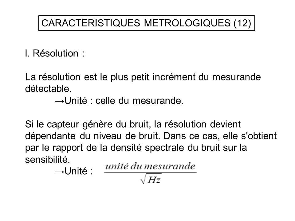 CARACTERISTIQUES METROLOGIQUES (12)