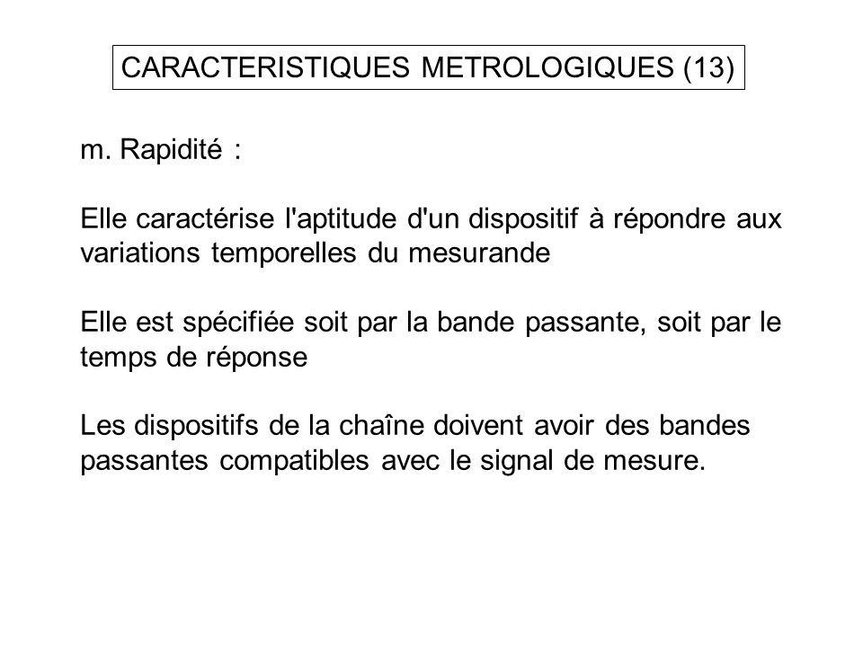 CARACTERISTIQUES METROLOGIQUES (13)