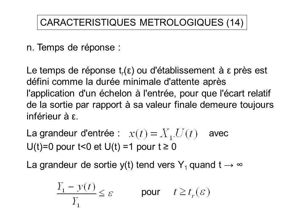 CARACTERISTIQUES METROLOGIQUES (14)