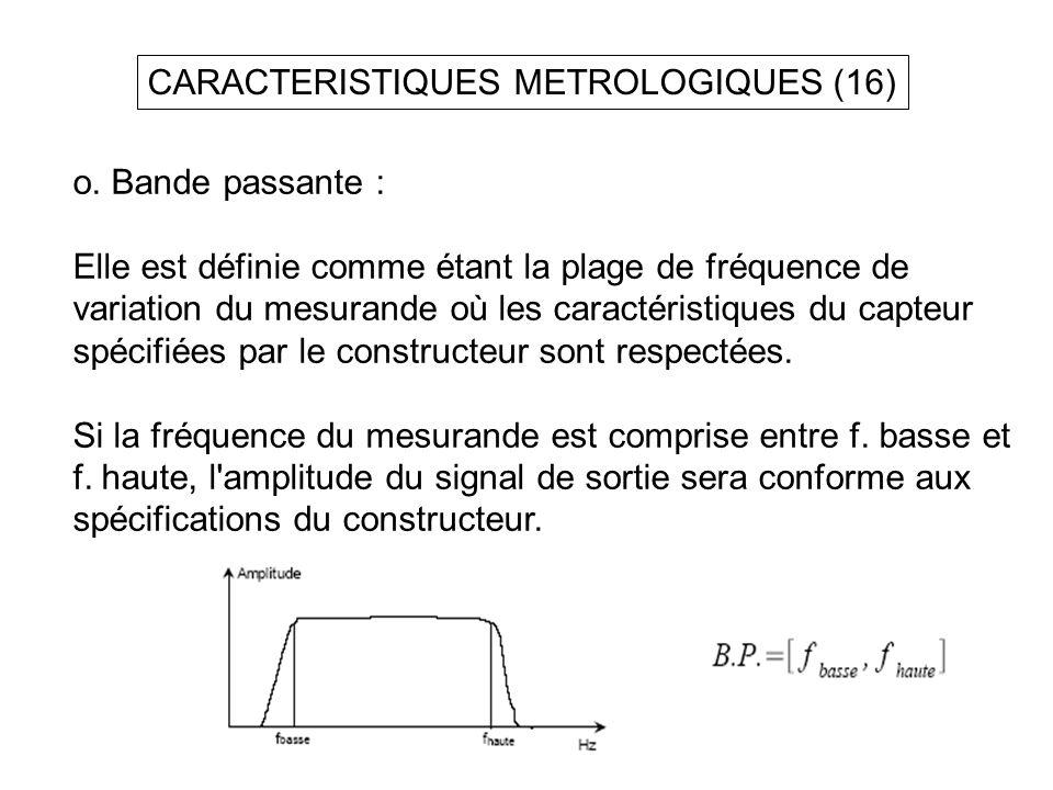 CARACTERISTIQUES METROLOGIQUES (16)