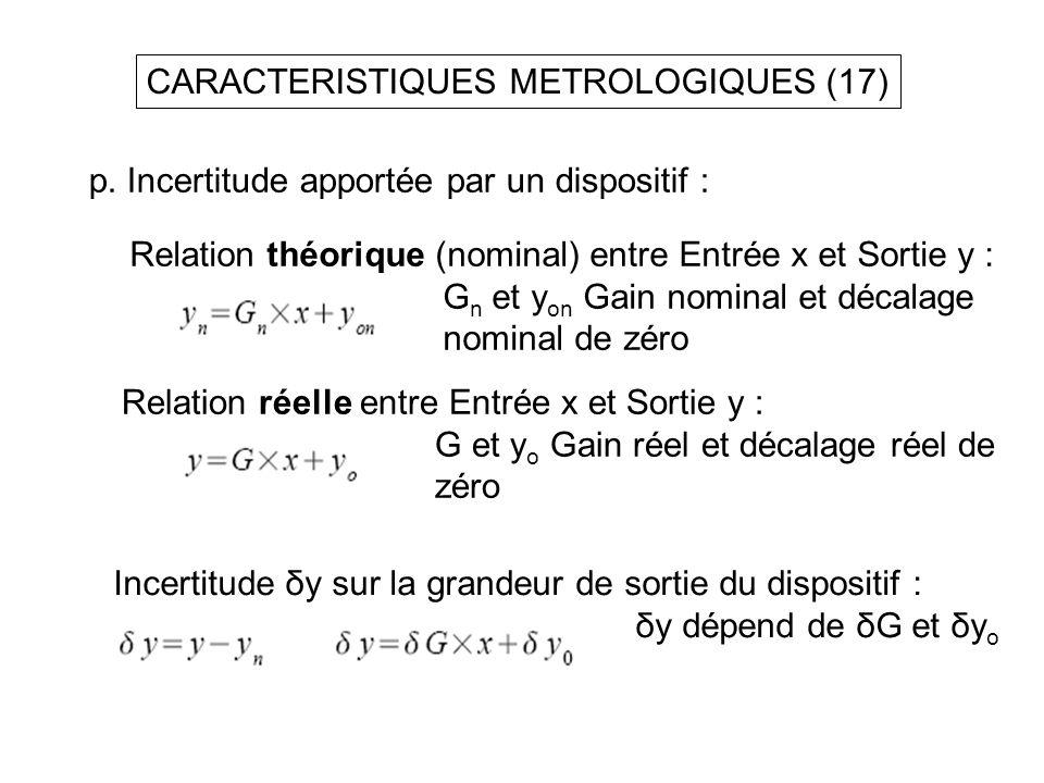 CARACTERISTIQUES METROLOGIQUES (17)