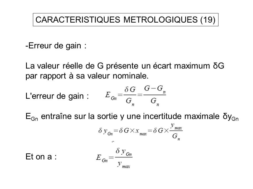CARACTERISTIQUES METROLOGIQUES (19)