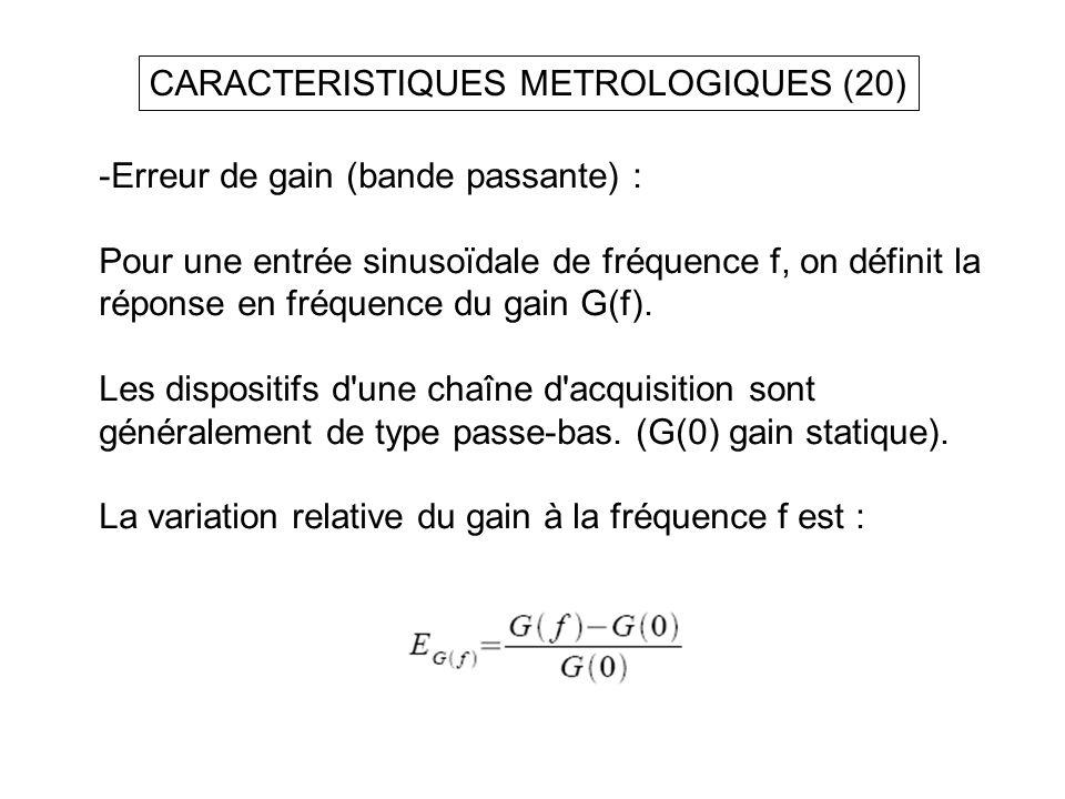 CARACTERISTIQUES METROLOGIQUES (20)
