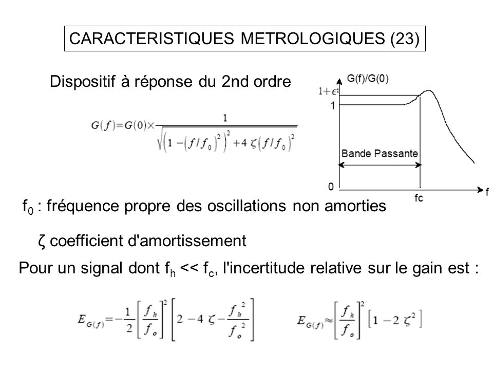 CARACTERISTIQUES METROLOGIQUES (23)