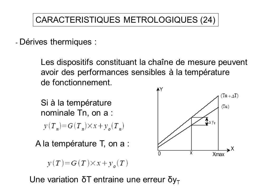 CARACTERISTIQUES METROLOGIQUES (24)